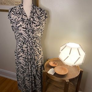 BCBG Printed Sleeveless Midi Dress Size Large